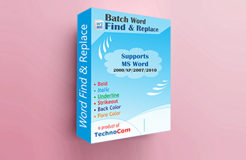 Batch Word Find & Replace